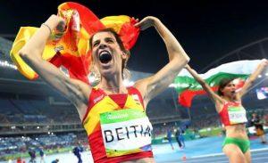 Tricampeona atletismo español
