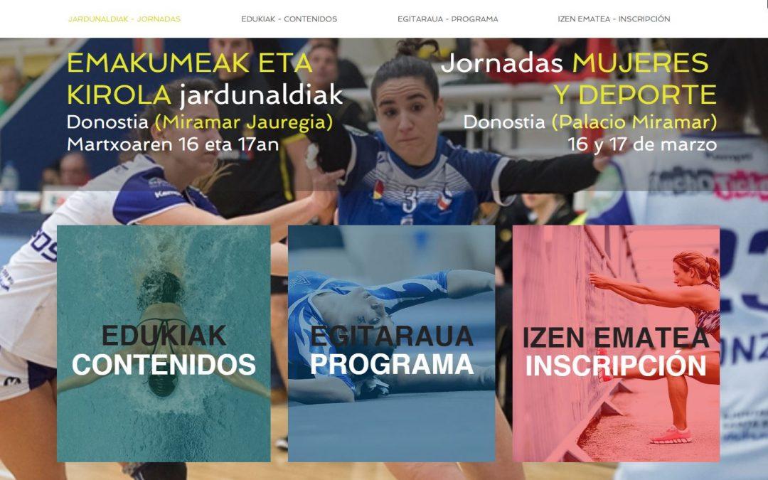 La igualdad en el deporte en las mesas de debate de las jornadas de la Diputación Foral de Guipúzcoa.