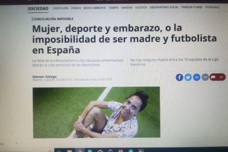 El Periódico / Mujer, deporte y embarazo, o la imposibilidad de ser madre y futbolista en España