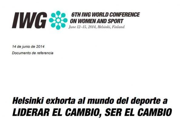 Declaración de Brighton Más Helsinki 2014 sobre Mujer y Deporte