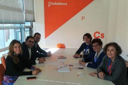 Reunión AMDP con Ciudadanos sobre Deporte con Rodrigo Gómez e Igualdad con Patricia Reyes en el Congreso
