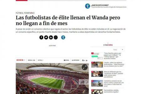 Público. Marisa Kohan. Las futbolistas de élite llenan el Wanda pero no llegan a fin de mes