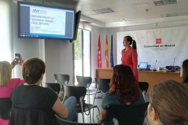 Comunidad de Madrid. Curso de prevención de delitos sexuales en el deporte. Anna Almécija