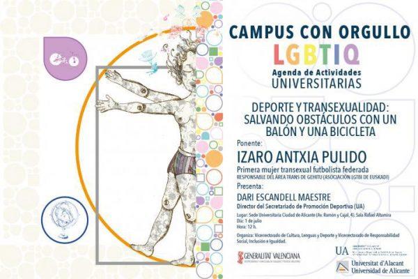 UA. Campus con Orgullo. Deporte y transexualidad. Izaro Antxia