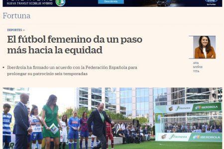 Cinco Días. El fútbol femenino da un paso más hacia la equidad