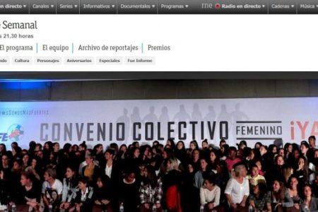Informe Semanal. RTVE. El convenio de la igualdad. Pilar Calvo