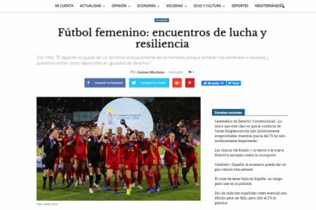 Diario16. Fútbol femenino: encuentros de lucha y resiliencia. Sita Méndez