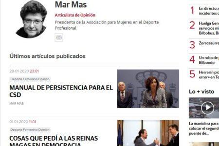 El Correo. Manual del persistencia para el CSD. Mar Mas