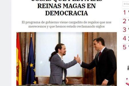 El Correo. COSAS QUE PEDÍ A LAS REINAS MAGAS EN DEMOCRACIA. Mar Mas