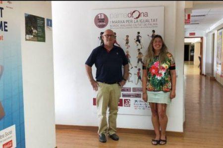 Reunión con Deportes del Ayuntamiento de Palma. Marta Lliteras y Mar Mas