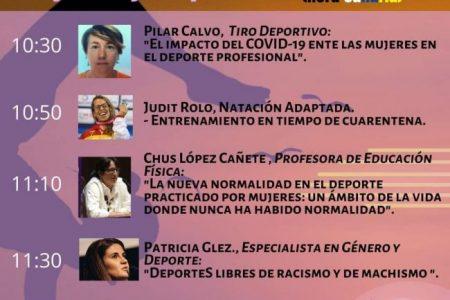 Maratón Webbinar Mujeres y Deporte. Mujeres Deportistas Canarias. Pilar Calvo.