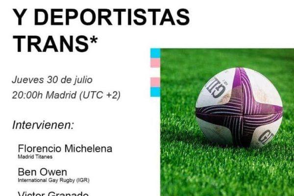 Webinar. World Rugby y deportistas trans*. Oti Camacho