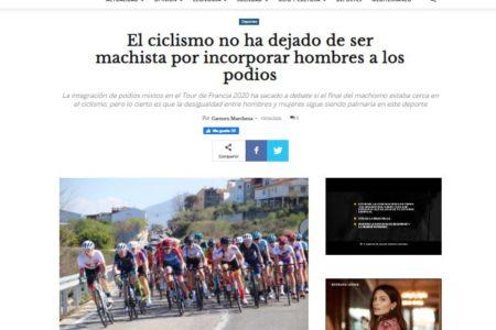 Diario 16. El ciclismo no ha dejado de ser machista por incorporar hombres a los podios