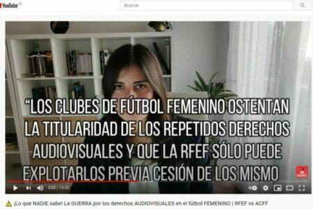 La GUERRA por los derechos AUDIOVISUALES en el fútbol FEMENINO. Amanda Gutiérrez