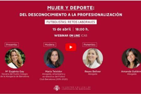 Webinar Mujeres Futbolistas. Retos laborales