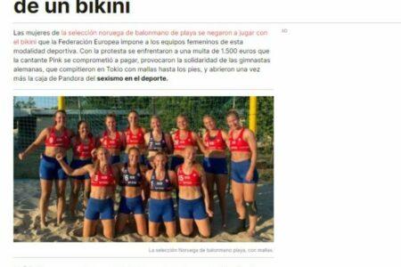 El Periódico. Medir el sexismo en los centímetros de un bikini.