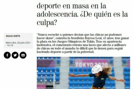 El Mundo. Las chicas abandonan el deporte en masa en la adolescencia. ¿De quién es la culpa?