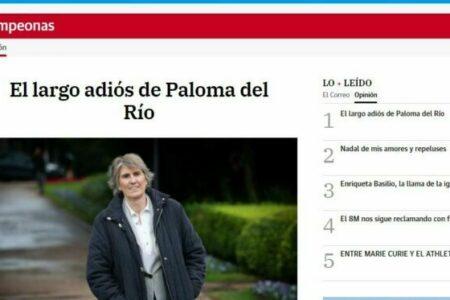 El Correo. El largo adiós de Paloma del Río. Mar Mas