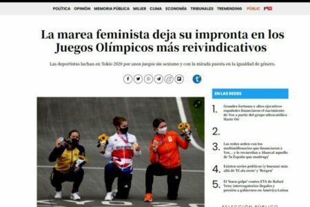 Público. La marea feminista deja su impronta en los Juegos Olímpicos más reivindicativos